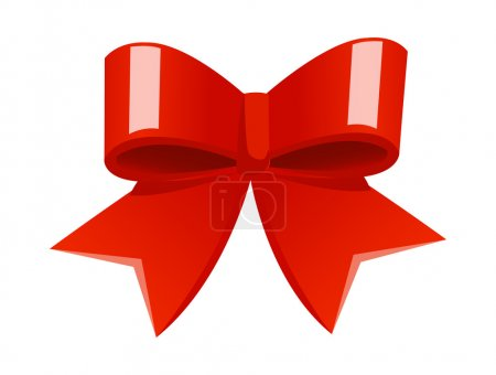 Illustration for Christmas bow. Vector illustration. - Royalty Free Image