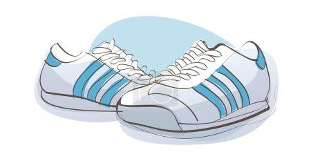Illustration pour Baskets vectoriels . - image libre de droit