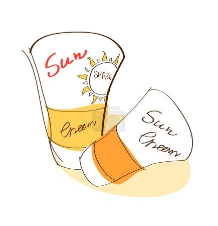 Suntan cream and lotion