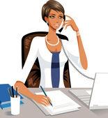 Elegant businesswoman on the phone
