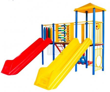 Photo pour Aire de jeux pour enfants isolés sur fond blanc - image libre de droit