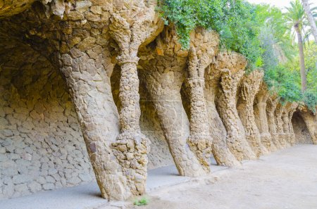 Photo for Archs in Guell park in Barcelona - Royalty Free Image