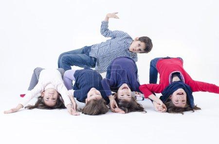 Photo pour Cinq frères d'une grande famille - image libre de droit