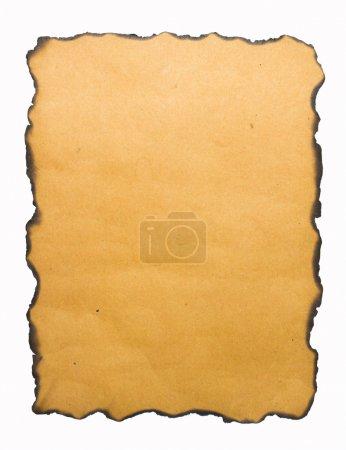 Burned edge paper