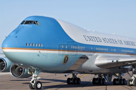 Air Force One on the tarmac