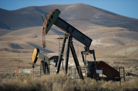 Pumping oil in Kern County, California