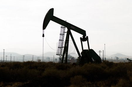 Pumping oil in Kern County, California