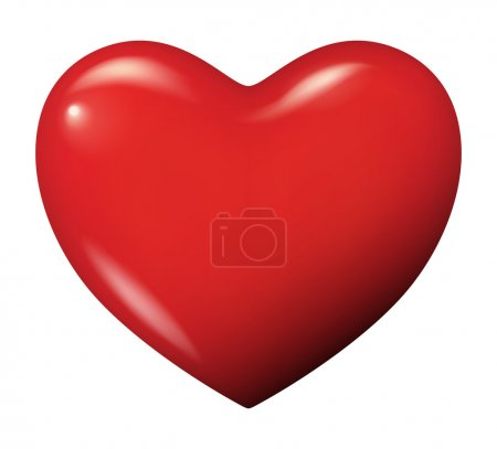Illustration for Vector illustration of a red heart - Isolated - Royalty Free Image