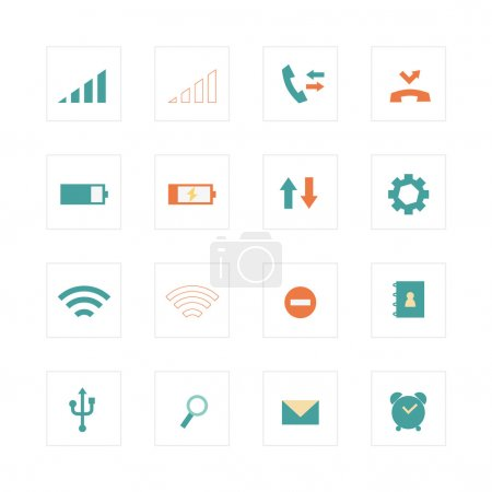 Mobile phone primary icons
