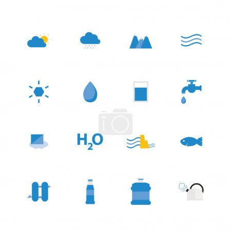 Water icon set.