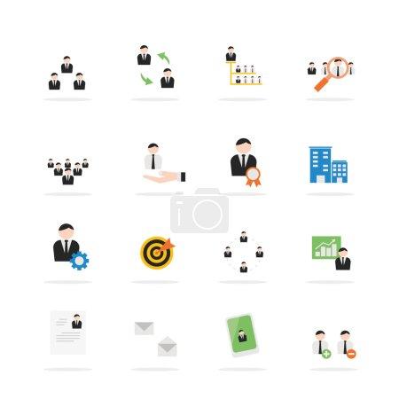 Business management icon set.