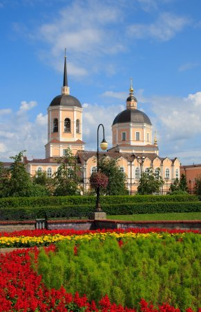 Landscape of Tomsk city. Russia.