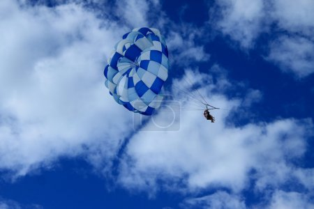 summer sport parasailing and boat