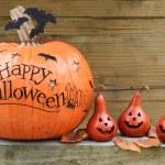 Happy Halloween pumpkin display...