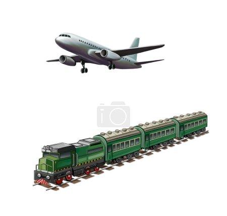 Modern airplane, Green passanger train
