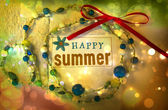 Happy summer! Bright and colorful summer background