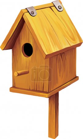 Wooden Bird House. Nesting box