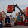 Container forklift loading m the truck