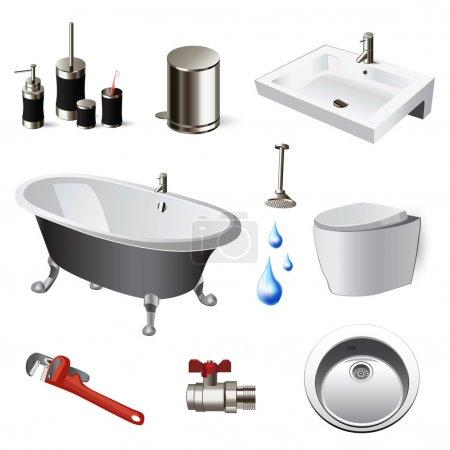 Illustration for Bathroom set - Royalty Free Image