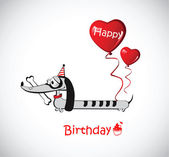 Happy Birthday Card dog Dachshund