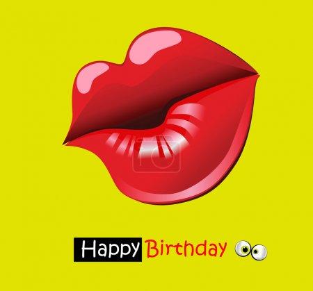 Happy birthday funny card smile kiss