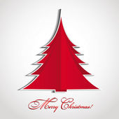 Merry Christmas Christmas card with a red spruce
