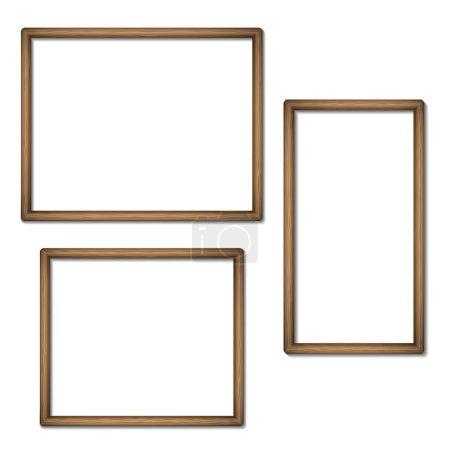 Empty frames of wood