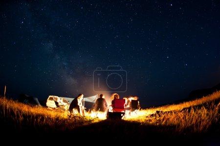 Photo pour Beau ciel étoilé près de l'île Petrov à Primorye, Russie - image libre de droit