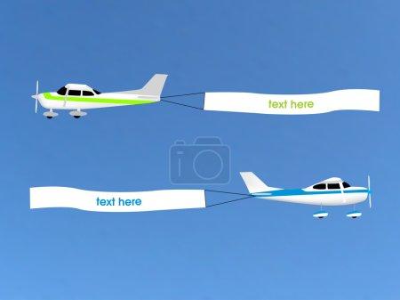 Illustration pour Publicité aérienne - image libre de droit