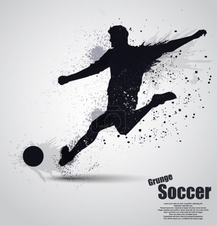 Grunge soccer player