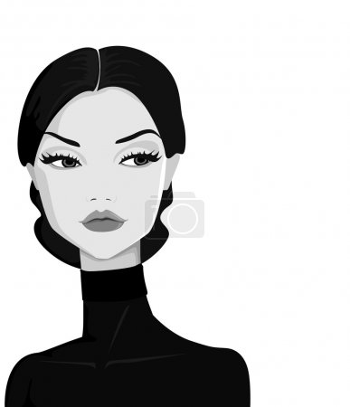 Illustration for Retro woman portrait - Royalty Free Image