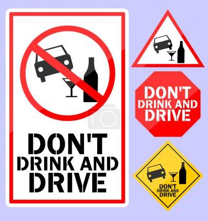 Illustration pour Ne pas boire et conduire - image libre de droit