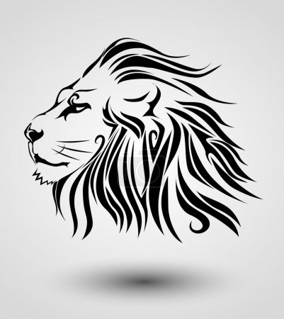 Illustration for Tribal lion - Royalty Free Image