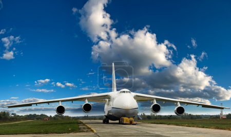 Large cargo plane on the ground