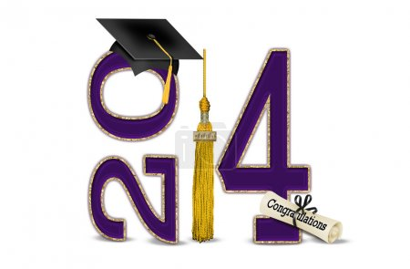 Purple and gold for 2014 graduation