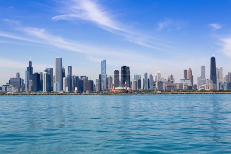 Photo for Chicago skyline in summertime - Royalty Free Image