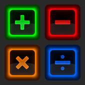 Постер Цветные вебкнопки с математикой