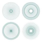 Set of vector guilloche rosettes