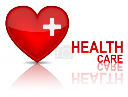 Illustration for Key to health wellness concept. Vector illustration - Royalty Free Image