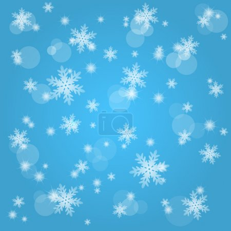 Snow fall. Abstract winter background.