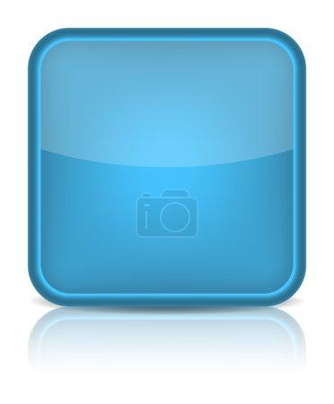 Blue glossy blank internet button.