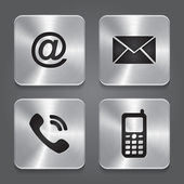 Metal contact buttons - set icons