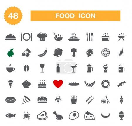 Photo pour Icône de la nourriture - réglé. Vecteur - image libre de droit