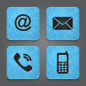 Contact buttons - set icons - email envelope phone mobile