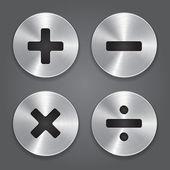 Vector Metal Icons Math Symbols