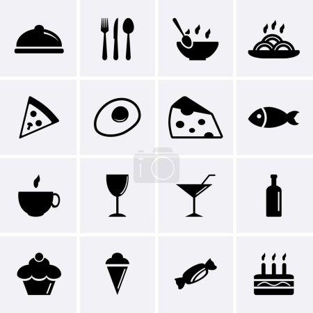 Photo pour Icônes de nourriture et boissons - image libre de droit