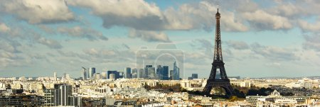 Photo pour Vue sur la tour eiffel et panorama de paris - image libre de droit