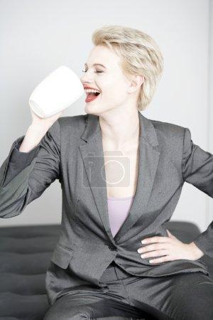 Business woman taking a break