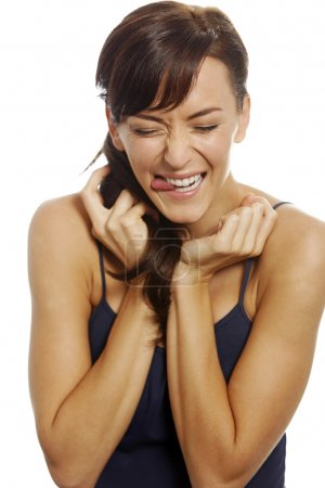 Woman looking excited