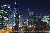 "Постер, картина, фотообои ""Чикаго ночью."""